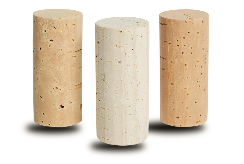 Natural cork stoppers